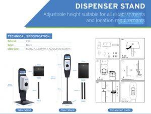 EcoLab Dispenser Stand